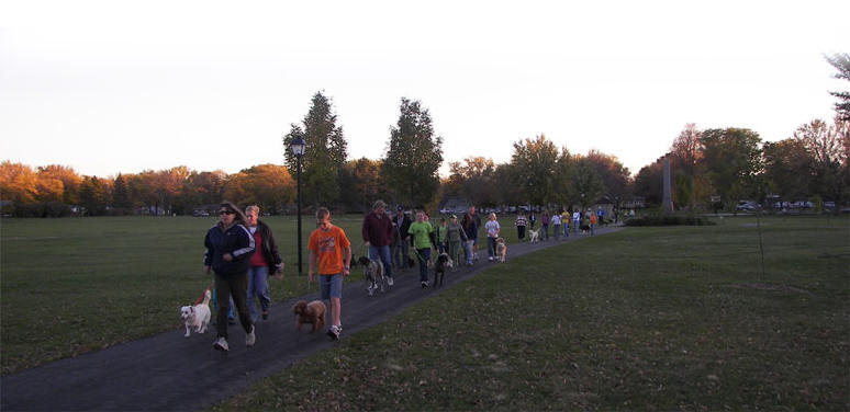 dog walk participants